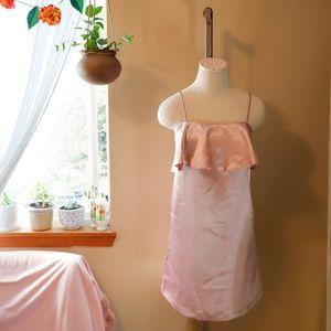 Kimchi Blue Satin Slip Ruffle Dress